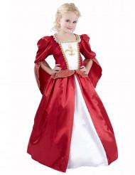 Déguisement princesse médiévale effet velours fille