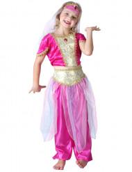 Déguisement danseuse orientale rose fille