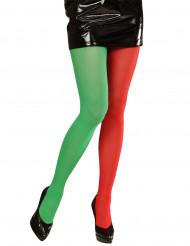Collants bicolores d'elfe adultes