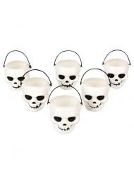 Lot de 6 verres tête de mort Halloween