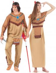 Déguisement couple indiens adulte