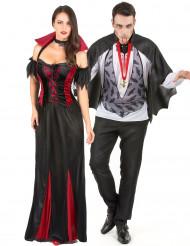 Déguisement couple de vampire Halloween