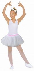 Tutu ballerine blanc argenté fille