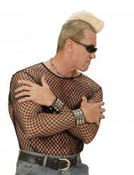 Crête blonde punk adulte