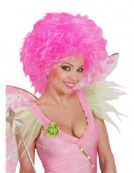 Perruque rose fluo  femme