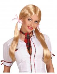 Perruque d'écolière blonde femme