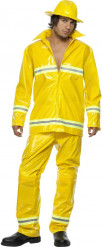 Déguisement pompier homme jaune