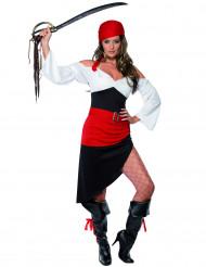 Déguisement pirate asymétrique femme