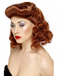 Perruque pin up marron femme