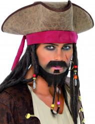 Moustache et barbe pirate adulte
