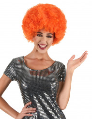 Perruque afro/ clown orange confort adulte