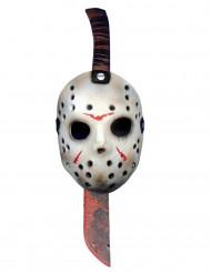 Machette et demi-masque en plastique Jason™ Vendredi 13™