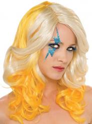 Perruque Lady Gaga™ blonde et jaune femme
