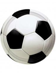 8 Assiettes ballon de foot