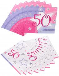 16 Serviettes en papier Ages  33 x 33 cm