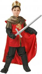 Déguisement roi médiéval rouge garçon