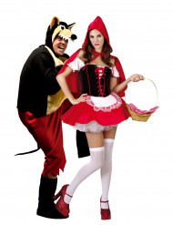 Déguisement couple du chaperon rouge et du grand méchant loup