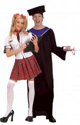Déguisement couple d'étudiants diplomés