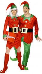 Déguisements de couple d'elfes de Noël