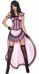 Déguisement danseuse de saloon sexy femme