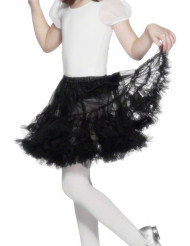 Jupon transparent noir fille