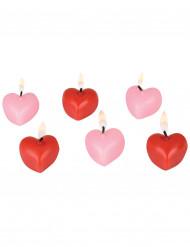 Bougies cœurs