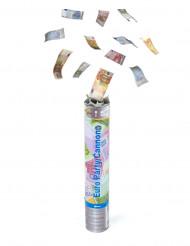 Canon à confettis billets 30 cm