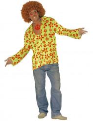 Déguisement hippie vert adulte