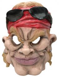 Masque caricature motard américain adulte
