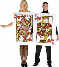 Déguisement couple cartes roi et reine de coeur