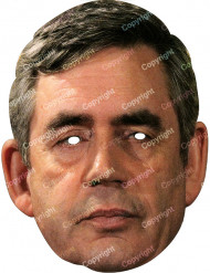 Masque carton Gordon Brown