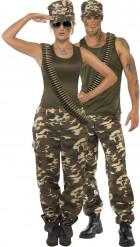 Déguisement couple militaire