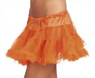 Jupon orange en tulle femme