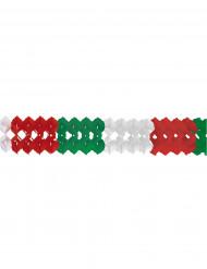 Guirlande rouge blanc vert