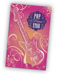 6 cartes d'invitation Hannah Montana™