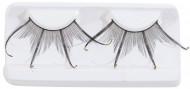 Faux cils courts double noirs avec strass adulte