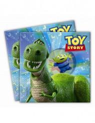 20 Serviettes en papier Toy Story Partysaurus™ 33 x 33 cm