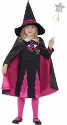 Déguisement apprentie sorcière rose fille