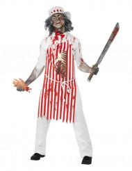 Déguisement boucher zombie homme Halloween