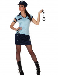 Déguisement policière sexy bleu femme