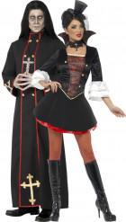 Déguisement couple moine et vampire Halloween