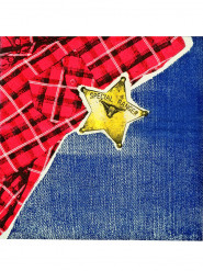 12 Serviettes en papier Cowboy 33 x 33 cm
