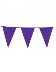 Guirlande fanions violette