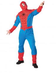 Déguisement Spiderman™ adulte avec torse et cagoule