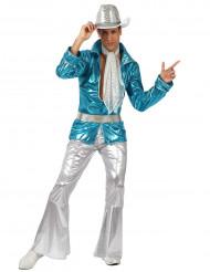 Déguisement disco bleu homme
