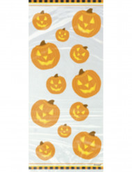 20 sachets cellophane citrouille Halloween