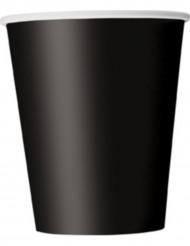 8 gobelets noirs
