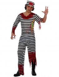 Déguisement zombie prisonnier homme Halloween