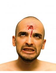 Fausse plaie visage impact de balle adulte