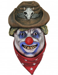 Masque clown cowboy adulte Halloween